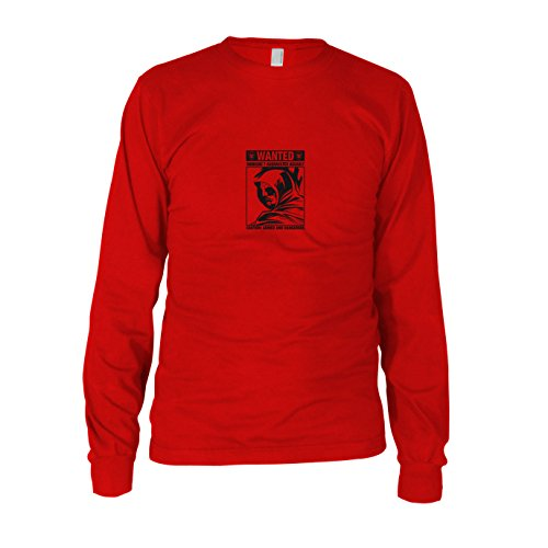Wanted Arrow - Herren Langarm T-Shirt, Größe: XXL, Farbe: rot (Roter Pfeil Dc Kostüm)