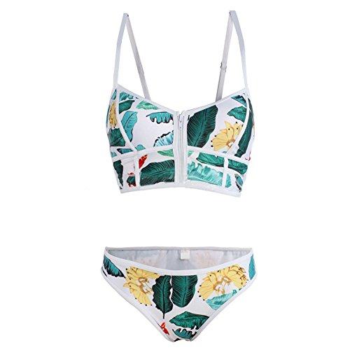 Fashion Bikini Sets Damenmode Swimwear Neckholder Badeanzüge Bikinis für Frauen und Mädchen Weiß