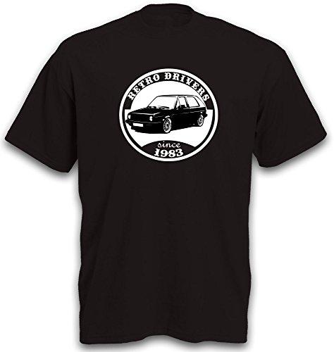 T-Shirt Golf 2 Motiv Youngtimer Oldtimer Golfshirt Gr. L