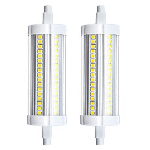 Bonlux R7s 118mm Lampadina a LED R7s 20W Bianco Caldo 3000K, 150W R7s Lampadina Alogena Lineare J118,Lampadina a R7s Lampada Proiettore(Non Dimmerabile,2 Pacco)