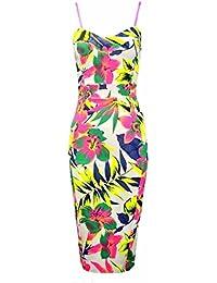 Fast Fashion - Robe Sans Manches Imprimé Floral Serrure Moulante Amoureux - Femmes
