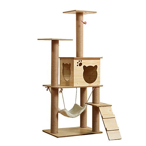 Jxwang tiragraffi per gatti - grattacielo cat scratching tower activity center - per gattini, gatti e animali domestici,b