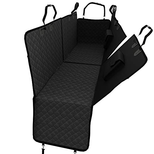 Dog Cover for Car Rear Seat + Side Protection, Carrying Bag - Washable waterproof separable Dog Cover | Anti-slip soft mat + Belt Opening
