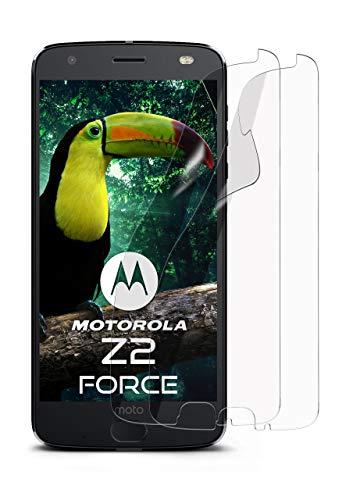 moex 2X Lenovo Moto Z2 Force | Schutzfolie Klar Bildschirm Schutz [Crystal-Clear] Screen Protector Display Handy-Folie Dünn Bildschirmschutz-Folie für Motorola Moto Z2 Force Bildschirmfolie