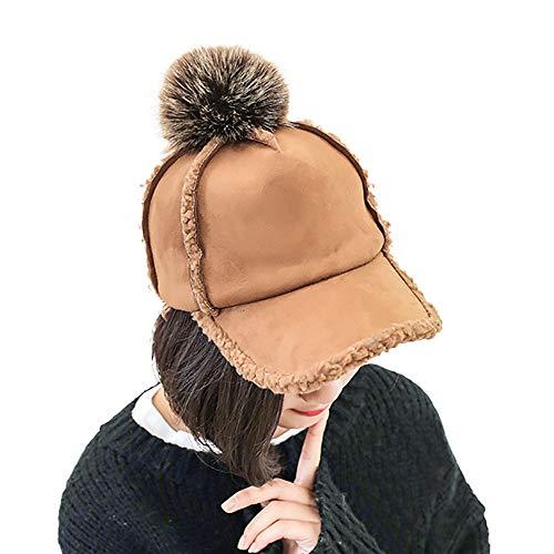JMETRIC Damen SchirmmützelHerbst Winter-mütze l Kappe l Verdicken Wintermütze l Britischer Stil