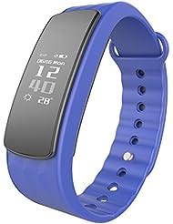 LINTELEK Fitness-armband Fitness Tracker IP67 wasserdichte Bluetooth 4.0 Fitnessarmband, Smart-Activity-Band Health Schlaf-Monitor Pedometer Kalorie / Schrittzähler für Android und IOS …