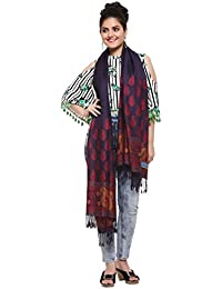 Hk Colors Of Fashion Women's Rayon Stole Stoles & Dupatta (Hk222_Navy Blue_28X78 Inches)