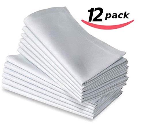 Bella Kline Deluxe weiß Abendessen Servietten weiß - Polyester-servietten Bulk