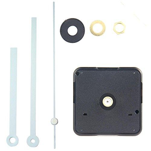 KOBWA Quarz-Uhrwerk Lautloses Quarz-Uhrwerk,clock Movement mit Uhrzeigerset 13mm Shaft,5mm Thread/20mm Shaft,13mm Thread