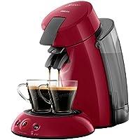 Philips Senseo Original XL HD6555/82 Cafetera Monodosis con Tecnología Coffee Boost, Rojo, 22.5x46.6x37 cm