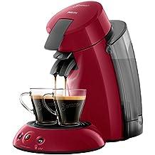 Philips Senseo Original XL HD6555/82 Cafetera Monodosis con Tecnología Coffee Boost, Rojo,