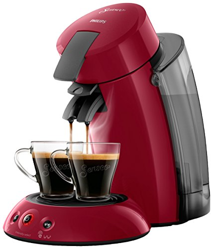 Philips Senseo Original XL hd6555/82 KaffeePadAutomat mit Coffee Boost Technologie, rot, 22.5 x...
