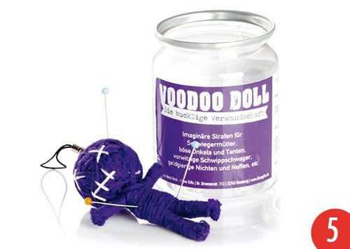 5er-Pack: Voodoo Doll in Dose +++ LUSTIG von modern times +++ DIE BUCKLIGE VERWANDTSCHAFT - VOODOO-DOLL +++ I LOVE GIFTS