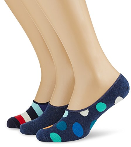 Happy Socks Limer Big Dot/Stripe, Calcetines Cortos para Hombre (Pack de 3) Happy Socks