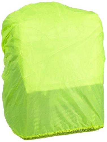 Hama Regenschutz- und Sicherheitshülle (für Schulranzen und Rucksäcke, Regenhüllle in auffälliger Signalfarbe, mit Gummizug, mit Aufbewahrungstasche) gelb