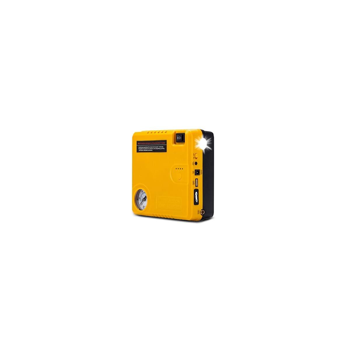 41zyP74h4mL. SS1200  - BAKTH Auto EPS Mini Multifuncional Portable 16800mAh Car Jump Starter con 400A pico de emergencia actual Banco de energía de arranque Cargador de batería externa con linterna LED Para coche de inicio de teléfono Tablet iPad Cámaras digitales Videocámara y más