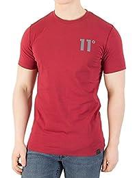 11 Degrees Hombre Camiseta básica, Naranja