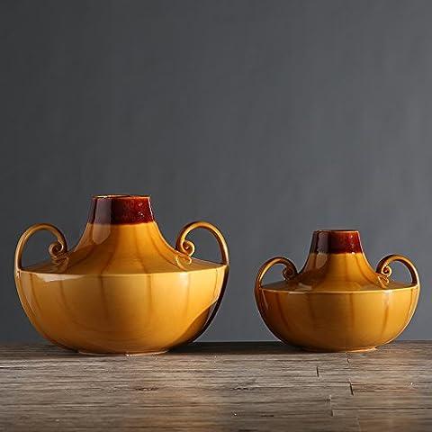 SDN2-Creative ceramiche fini orecchie porta vasi home soft boutonniere decorazioni di fiori con auricolari piccoli bassa , bottiglia set di smalto Wong