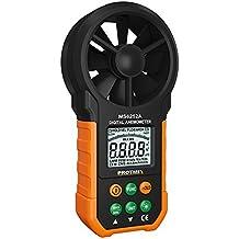 Protmex MS6252B Digital anemómetro Humidity Temperature Testers Meters USB Handheld LCD Velocidad del viento Medidor de medición del volumen de aire Backlight