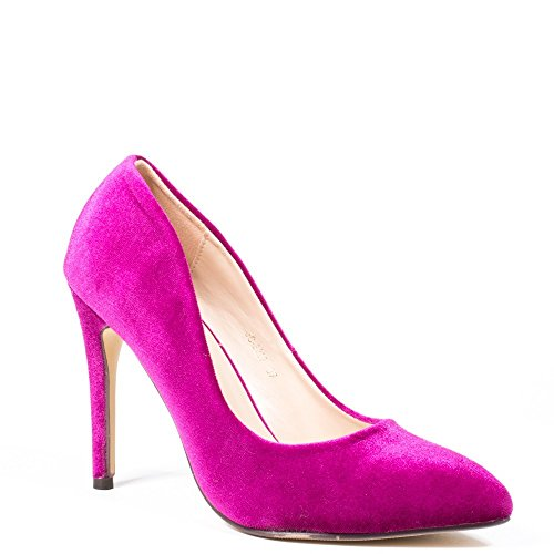 Ideal Shoes, Damen Pumps , rosa - fuchsia - Größe: 39