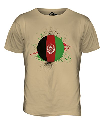 CandyMix Afghanistan Fußball Herren T Shirt Sand
