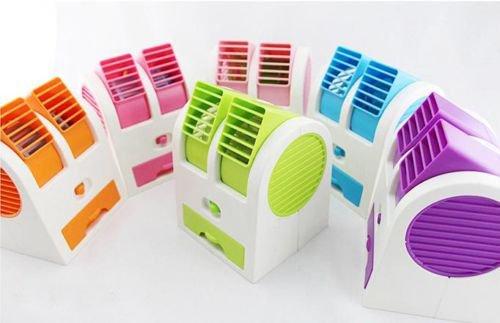 Mini aire acondicionado Climatizador Ventilador USB Pilas Hielo Aire fría