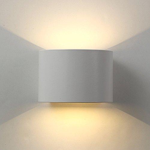 Applique Mural interieur Exterieur Led,lampe murale Moderne étanche IP65 Réglable Lampe Up and Down Design Pour Couloir, Escalier, Salle d'exposition,Salon (7W Blanc)
