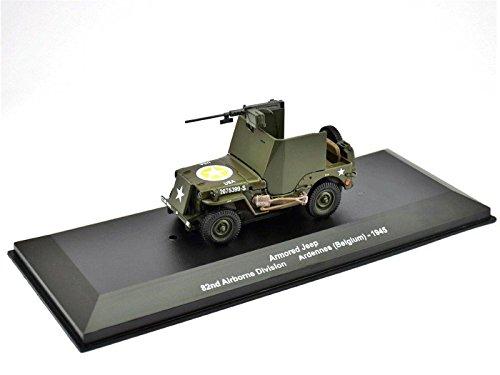 IXO/ALTAYA/ATLAS Armored Jeep Ardennes Maßstab 1:43 Fertigmodell aus Metall in Displayvitrine