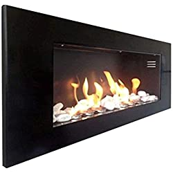 BIO chimenea para chimeneas de pared/chimenea de Gel/Chimenea de bioetanol/BIO etanol/chimenea/Biocamino/Mod S PLUS, color negro