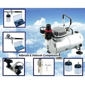 Cake Decorating Airbrush Kit Reviews Uk : AS18K Complete Airbrush Compressor Kit PLUS Airbrushing ...