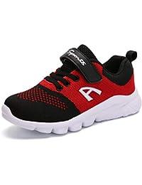 Kinder Schuhe Sportschuhe Ultraleicht Atmungsaktiv Turnschuhe Klettverschluss Low-Top Sneakers Laufen Schuhe Laufschuhe für Mädchen Jungen 28-37