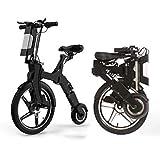 Hold E-Bikes Elektroroller Mini Faltbares Dreirad Gewicht 16.5KG Volle Ladung 25 30KM Reichweite Besonders geeignet für Menschen, die Unterstützung bei der Mobilität und Reisen benötigen Schwarz 35 km