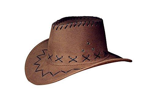 Mädchen Braun Kostüm - Miobo Cowboyhut Westernhut Cowgirl australien Texas Cowboy Hut Hüte Western für Erwachsene und Kinder (One Size, dunkel braun für Kinder)