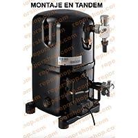 REPORSHOP - COMPRESOR Tecumseh TGP4553Z R404 Media Temperatura Motor 10,07CC 400/440V