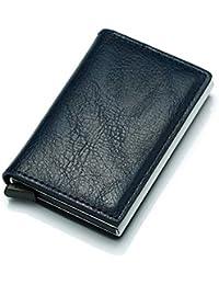 66ce30c94 LMSHM Billetera Billetera De Los Hombres Bolsa De Dinero Delgado Mini  Monedero Masculino De Aluminio RFID Titular De La Tarjeta Cartera…