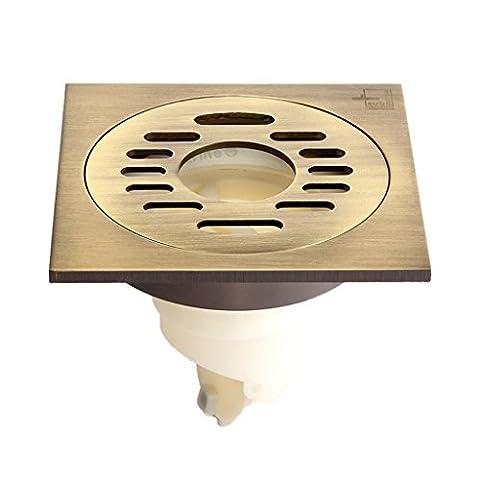 Helen Déodorant Drain de plancher en céramique à l'extérieur du fil de cuivre à l'intérieur de la machine à laver magnétique à base de sceau magnétique avec quatre anti-fuites (10 * 10 cm)