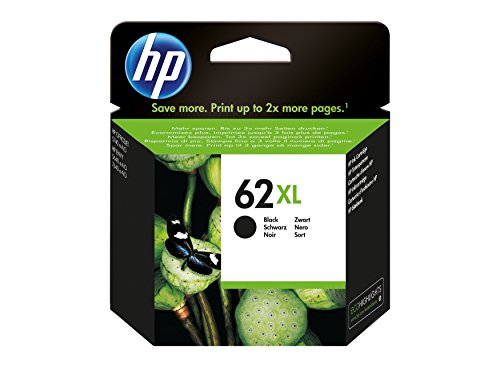 HP 62XL High Yield Black Original Ink Cartridge (High-yield-tinte)