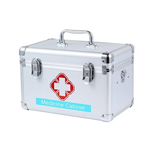 xj Multi-Female medizinische Metallkoffer mit Schloss medizinische Notfall Aufbewahrungsbox Speicher medizinische Sammlung (14 Zoll)