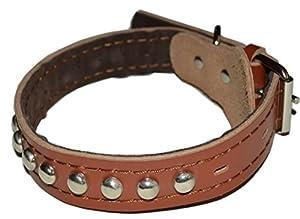 Cuir collier pour chien réglable confortable Durable anti-morsure pour grand moyen et petit chien taille 3