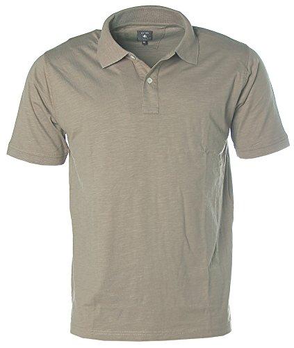 Kitaro Herren Kurzarm Shirt Poloshirt Polokragen Dark Mauve