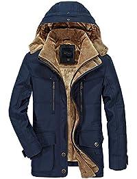 APTRO Giacca da Uomo Cappotti in Lana Invernale Cappotto Casual Casual Cappotto da Trench Monopetto da Lavoro 1108