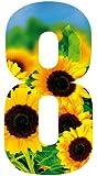 Wheelie Bin Number Sunflower 8