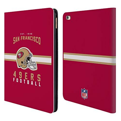 Head Case Designs Offizielle NFL Helm-Buchdruckerkunst 2018/19 San Francisco 49ers Brieftasche Handyhülle aus Leder für iPad Air 2 (2014) (Ipad Cellular 2 64 Air)