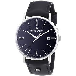 Maurice Lacroix Men's Quartz Watch Eliros EL1087-SS001-310 with Leather Strap