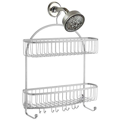 duschablage edelstahl mdesign zum hangen praktisches duschregal ohne bohren zu montieren duschkarbe hansgrohe