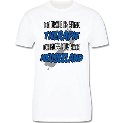 Länder - Ich brauche keine Therapie ich muss nur nach Neuseeland - Herren Premium T-Shirt Weiß