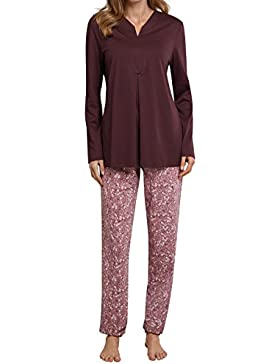 Schiesser Damen Pyjama lang 158726