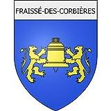 Fraissé-des-Corbières 11 ville Stickers blason autocollant adhésif Taille : 12 cm