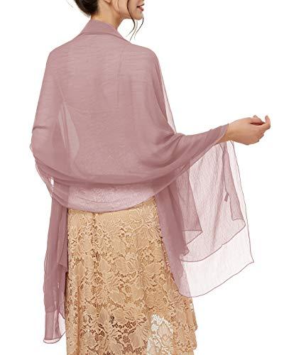 bridesmay Damen Strand Scarves Sonnenschutz Schal Sommer Tuch Stola für Kleider in 29 Farben Pink