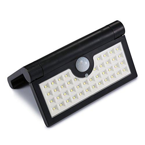 42 LEDs Solarleuchten für Außen, Faltbare Solar Wandleuchte Solarlampe mit Bewegungsmelder für...